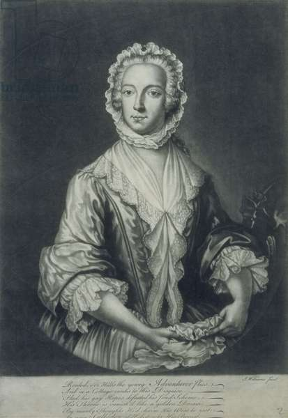 Prince Charles disguised as 'Betty Burke' (mezzotint engraving)