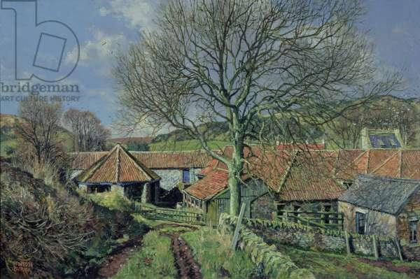 The Barnyard (oil on canvas)