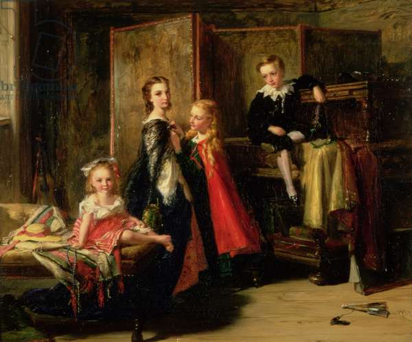 Dressing for the Charade: The Children of Patrick Allan Fraser, 1886 (oil on canvas)