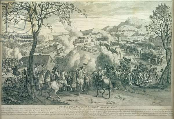 Battle of Culloden, 16 April 1746, published by Laurie and Whittle (engraving) (see 22654)