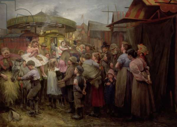 The Village Carnival Hi! Hi! Hi! 1890s (oil on canvas)