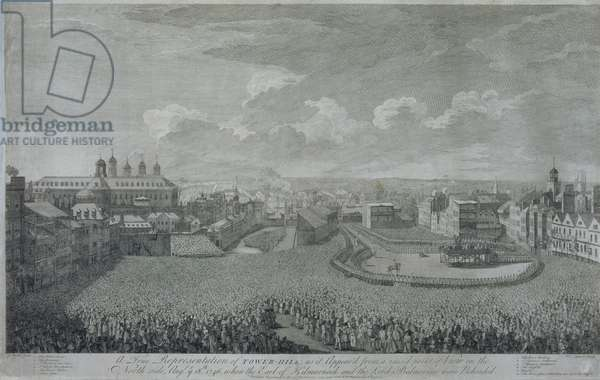 Execution of the Jacobite Lords, 1746 (engraving)