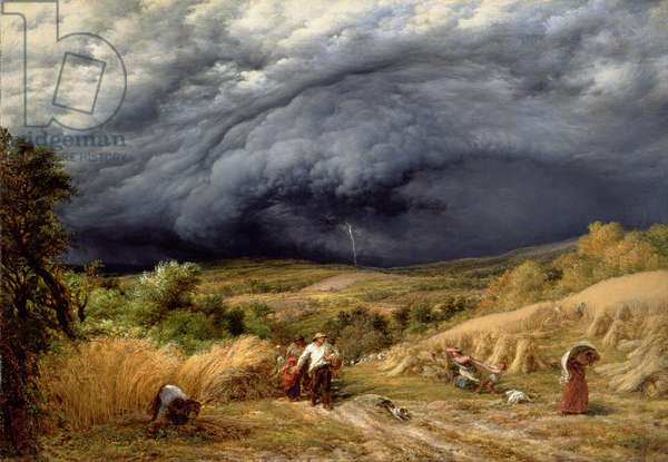 Storm in Harvest, 1856 (oil on canvas)