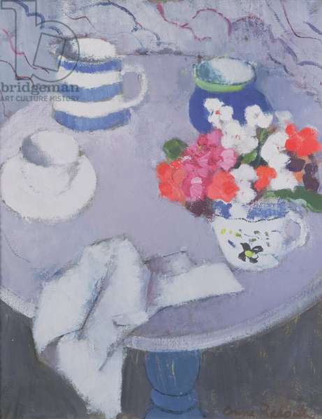 Still Life with Table (oil on canvas)