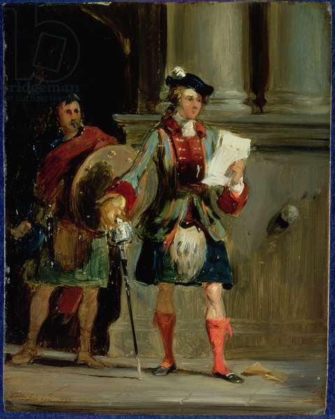 Prince Charlie at Holyrood, 1833 (oil on panel)
