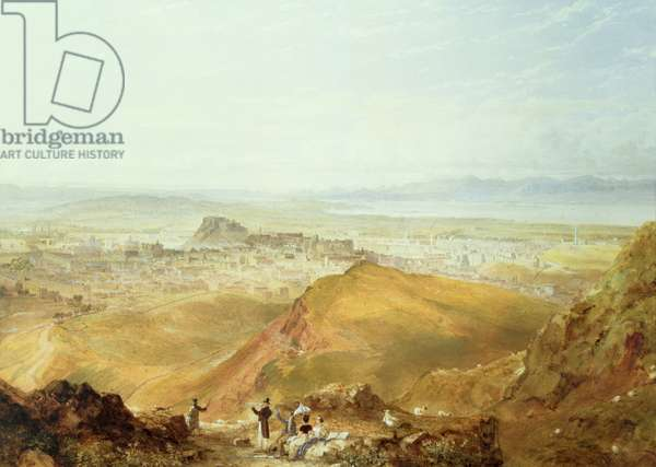 View of Edinburgh from Arthur's Seat (watercolour on paper)