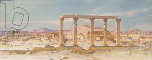 The Remains of Zenobia's Palace, Palmyra, 1859 (w/c on paper)