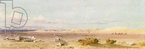 Sand Hills in the Desert, Cairo, Suez, 1859 (w/c on paper)