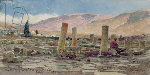 The Mosque of Melike near Baalbek destroyed by an Earthquake, 1859 (w/c on paper)