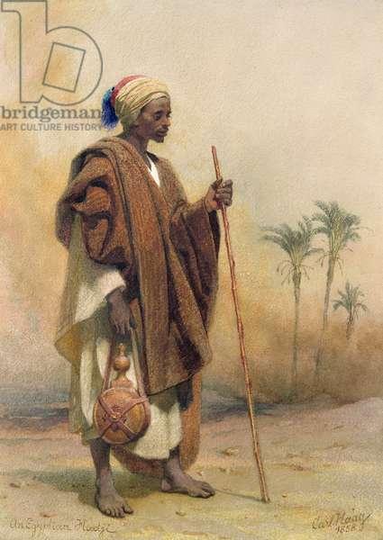 An Egyptian Haji, 1858 (w/c on paper)