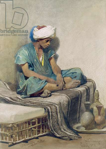 A Himali or water seller, 1855 (w/c on paper)