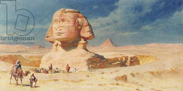 The Sphynx of Giza, 1874 (w/c on paper)