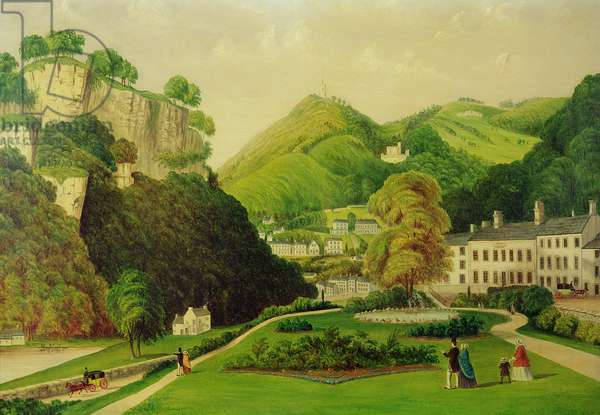 Matlock Bath from the grounds of the Bath Hotel, 1895