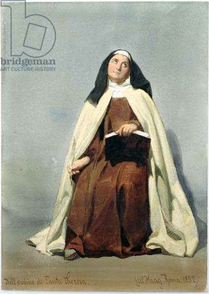 A Nun of the Order of St Theresa, 1852 (w/c on paper)