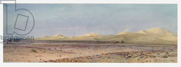 Sand Hills on the Road to Suez, 1859 (w/c on paper)