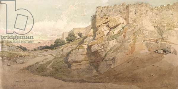 The Northern Wall of Jerusalem, 1859 (w/c on paper)