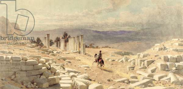 The Entrance of Ancient Samaria, 1870 (w/c on paper)