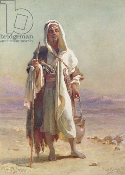 A Young Bedawee from Sinai, 1873 (w/c on paper)