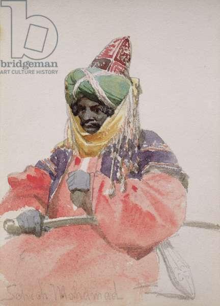 Portrait of an Arab (w/c on paper)