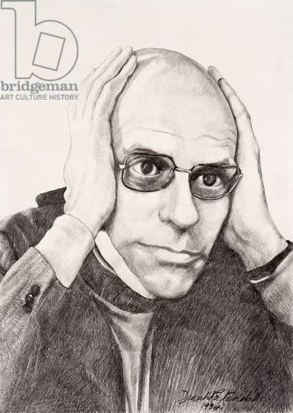 Michel Foucault, 1994 (pencil on paper)