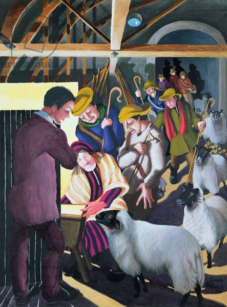 The Shepherds went to see the Baby, 1998 (acrylic on canvas)