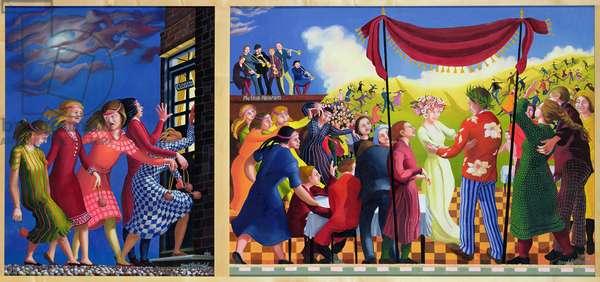 Wise and Foolish Virgins, 1994 (acrylic on canvas)