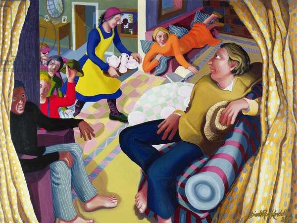 Jesus Visits Bethany, 2001 (acrylic on canvas)