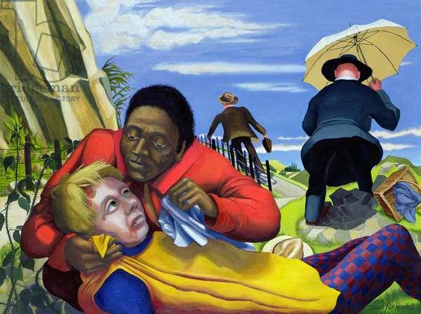 The Good Samaritan, 1994 (acrylic on canvas)