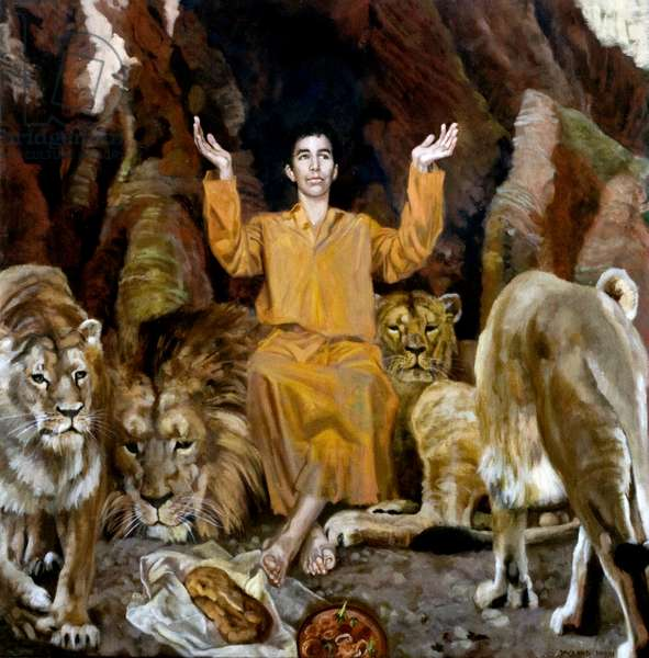Daniel in the Lion's Den, 2006 (oil on canvas)