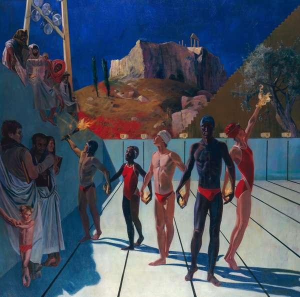 Olympiad Symposium, 1986 (oil on canvas)