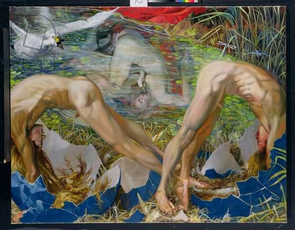 Gemini: The Birth of the Dioscuri, 1994 (oil on canvas)