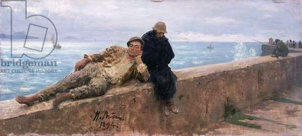 Study of Vagabonds, 1894 (oil on canvas)