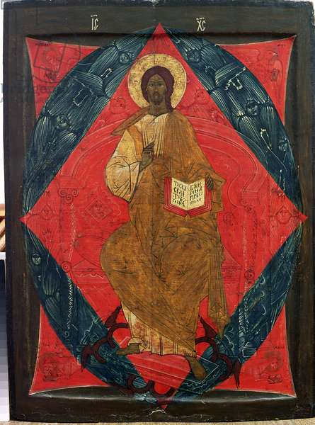 Christ in Majesty (tempera on panel)
