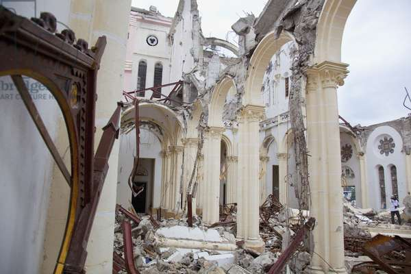 Ruins of the Catholic Cathedral of Our Lady of the Assumption after the Earthquake, Port-Au-Prince, Haiti (photo)