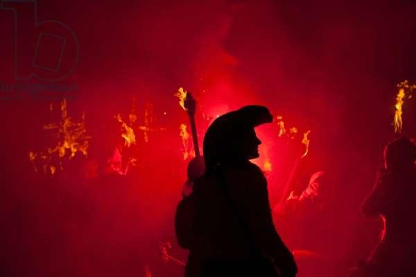 Bonfire night, Lewes, England, UK (photo)