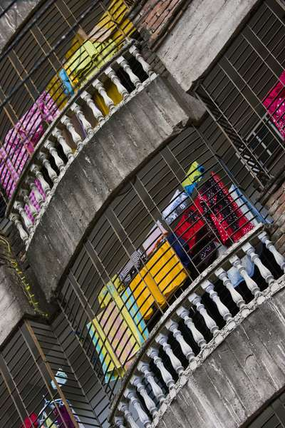 Detail of Balconies on Building, Dhaka, Bangladesh (photo)
