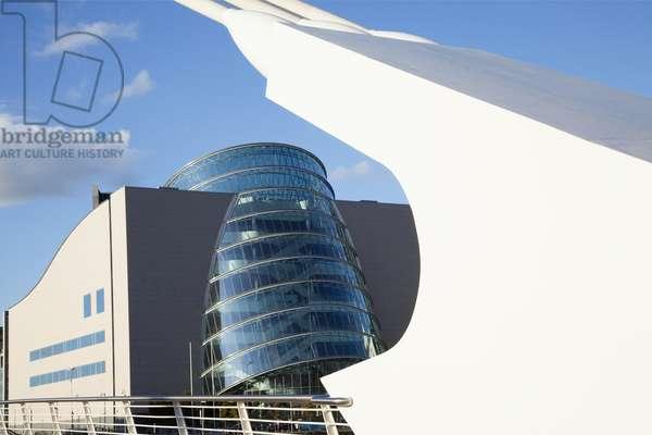 The Samuel Beckett Bridge And The National Conference Centre; Dublin City, County Dublin, Ireland (photo)