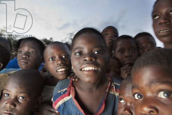 A Group of Children, Manica, Mozambique, Africa (photo)