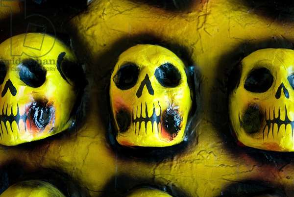 Skull Decorations (Calaveras) Commemorating the Mexican Day of the Dead, Mexico (photo)