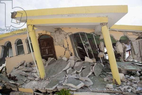 A Home Collapsed after the Earthquake, Port-Au-Prince, Haiti (photo)