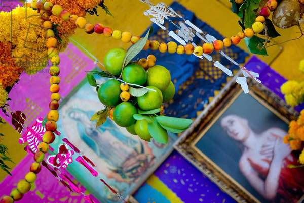 Personal Shrine For Mexican Day of the Dead, Mexico (photo)