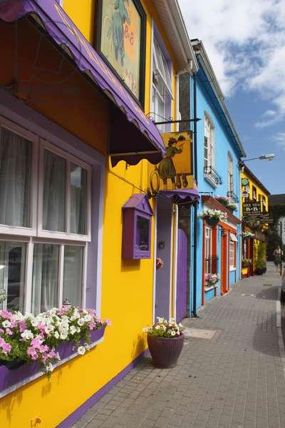 Painted Buildings On Main Street In Kinsale In Munster Region; Kinsale, County Cork, Ireland (photo)