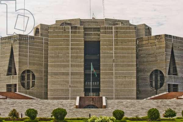 Exterior of National Assembly Building, Dhaka, Bangladesh (photo)