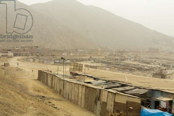 Shanties Built on a Dry Landscape, Lima Peru (photo)