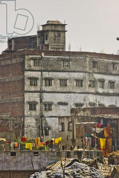 Building Along Buriganga River Waterfront, Dhaka, Bangladesh (photo)