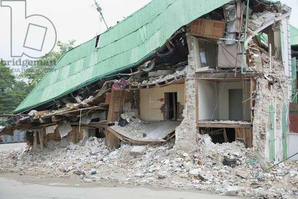 A Building Collapsed after the Earthquake, Port-Au-Prince, Haiti (photo)