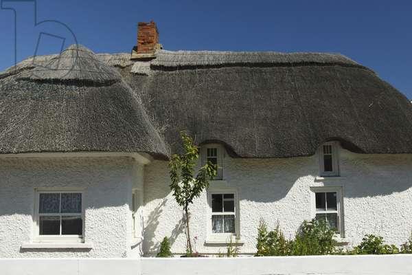 Thatch Cottage; Kilmore Quay Village County Wexford Ireland (photo)