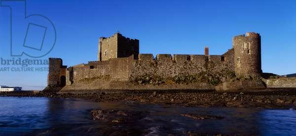 The Norman Castle (1200 Ad), At Carrickfergus, Co Antrim, Ireland (photo)