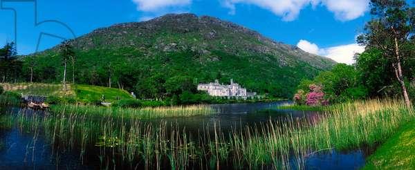 Kylemore Abbey, Co Galway, Ireland; 19Th Century Benedictine Abbey On A Lake (photo)