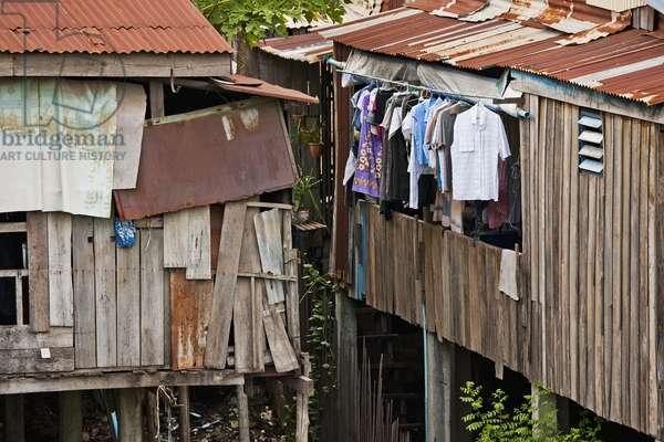 Housing in the Slums, Phnom Penh Cambodia (photo)